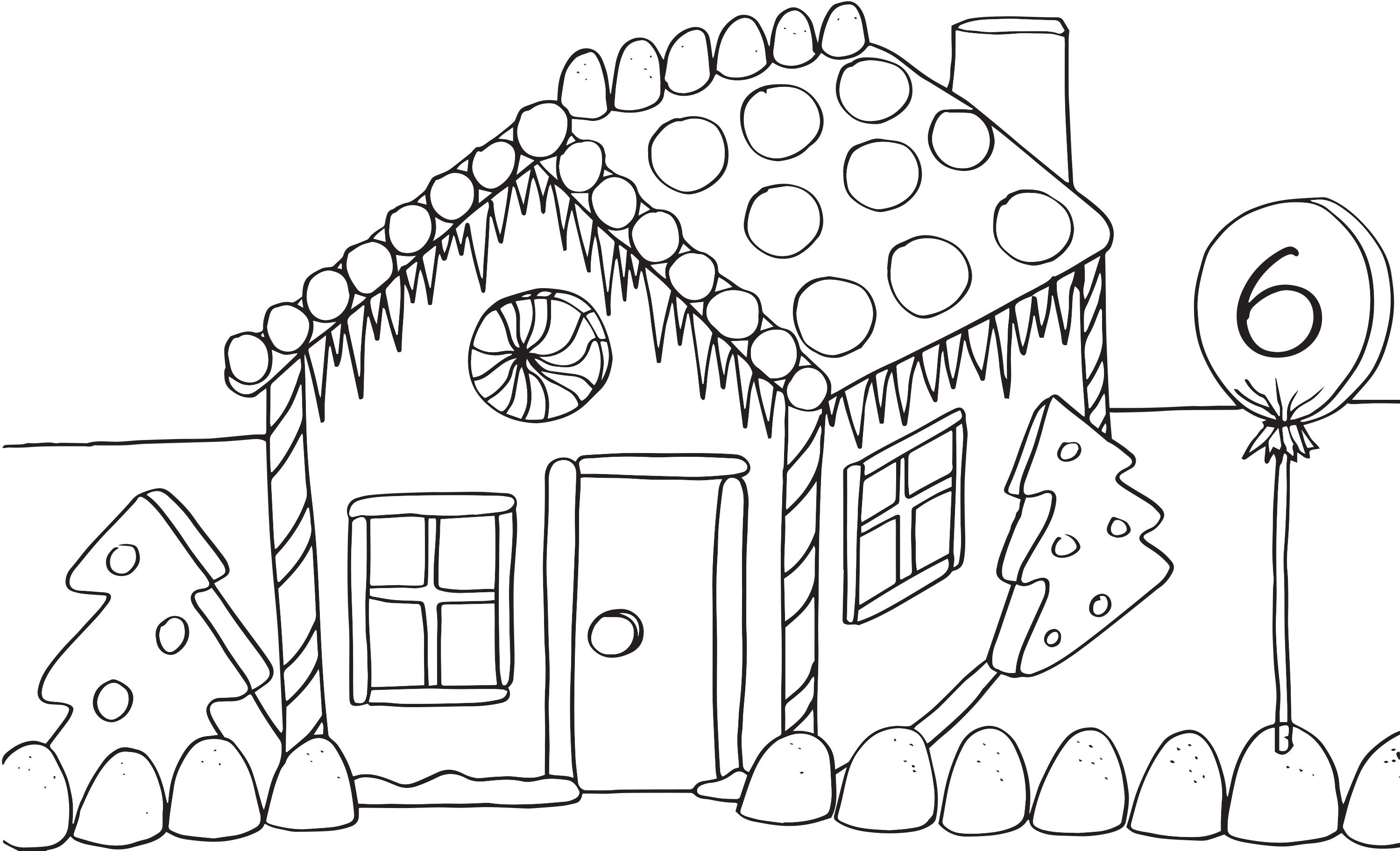 Christmas House Coloring Pages With Houses Free Library