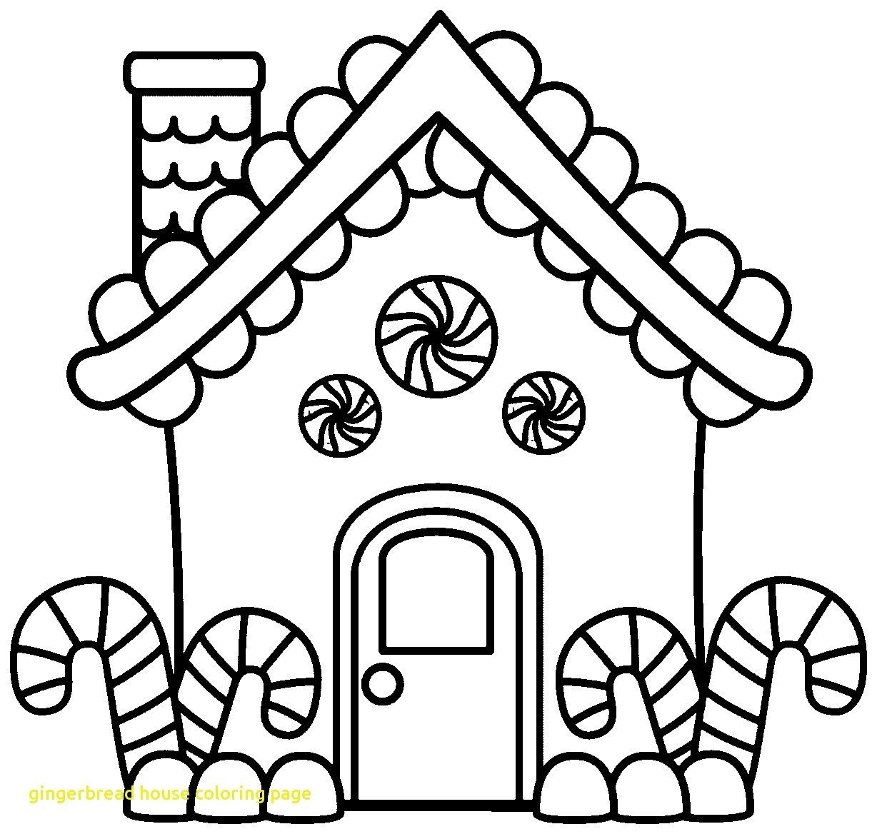 Christmas House Coloring With Gingerbread Color Page CHRISTMAS COLORING How To Draw And A