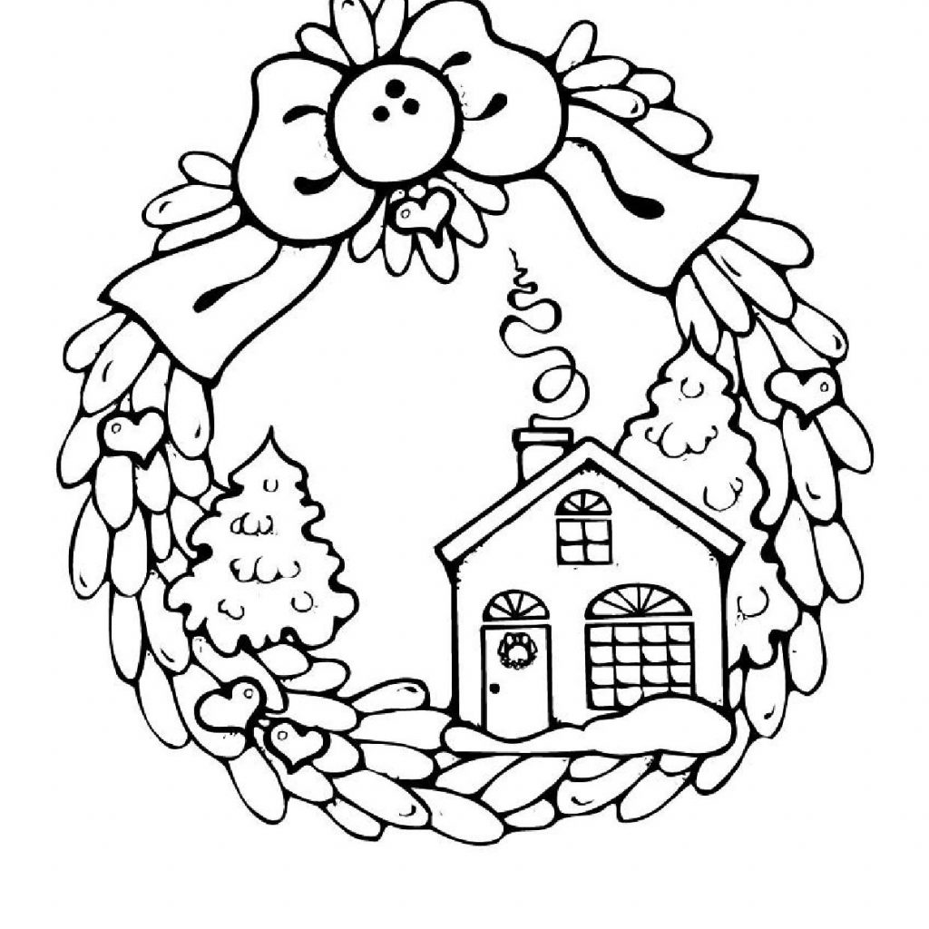 Christmas House Coloring With Houses Pages Candy Page