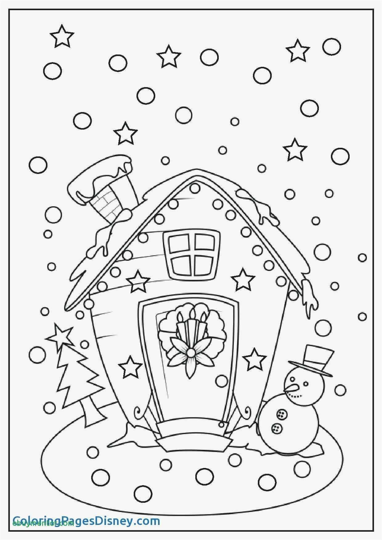 Christmas House Coloring With New Merry Lights Idea