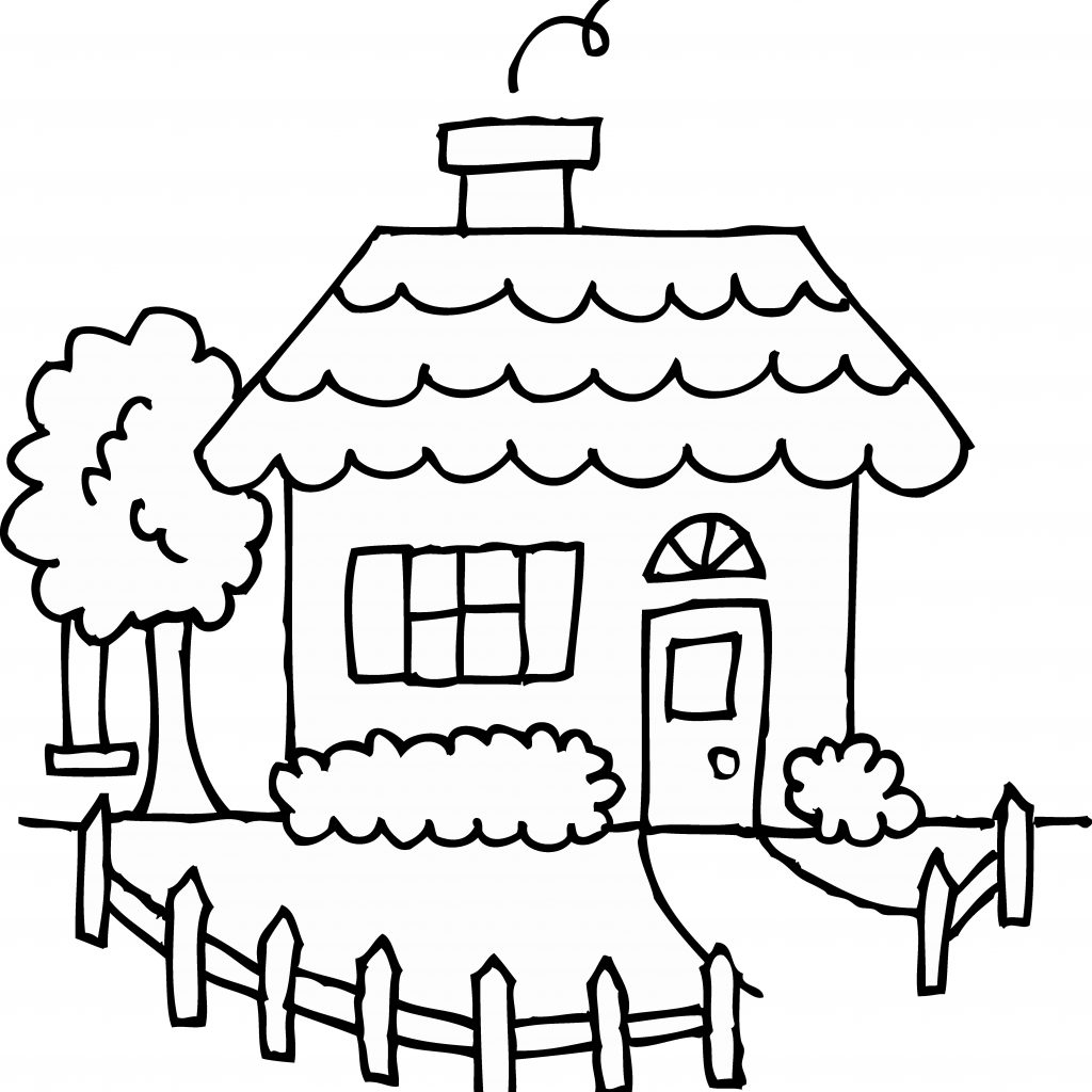 Christmas House Coloring With Pages Save