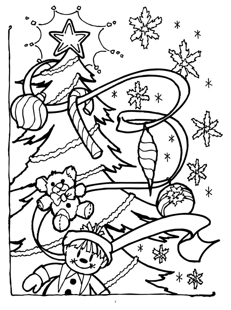 Christmas Images Coloring Book With Books Twas Night Before Really Big