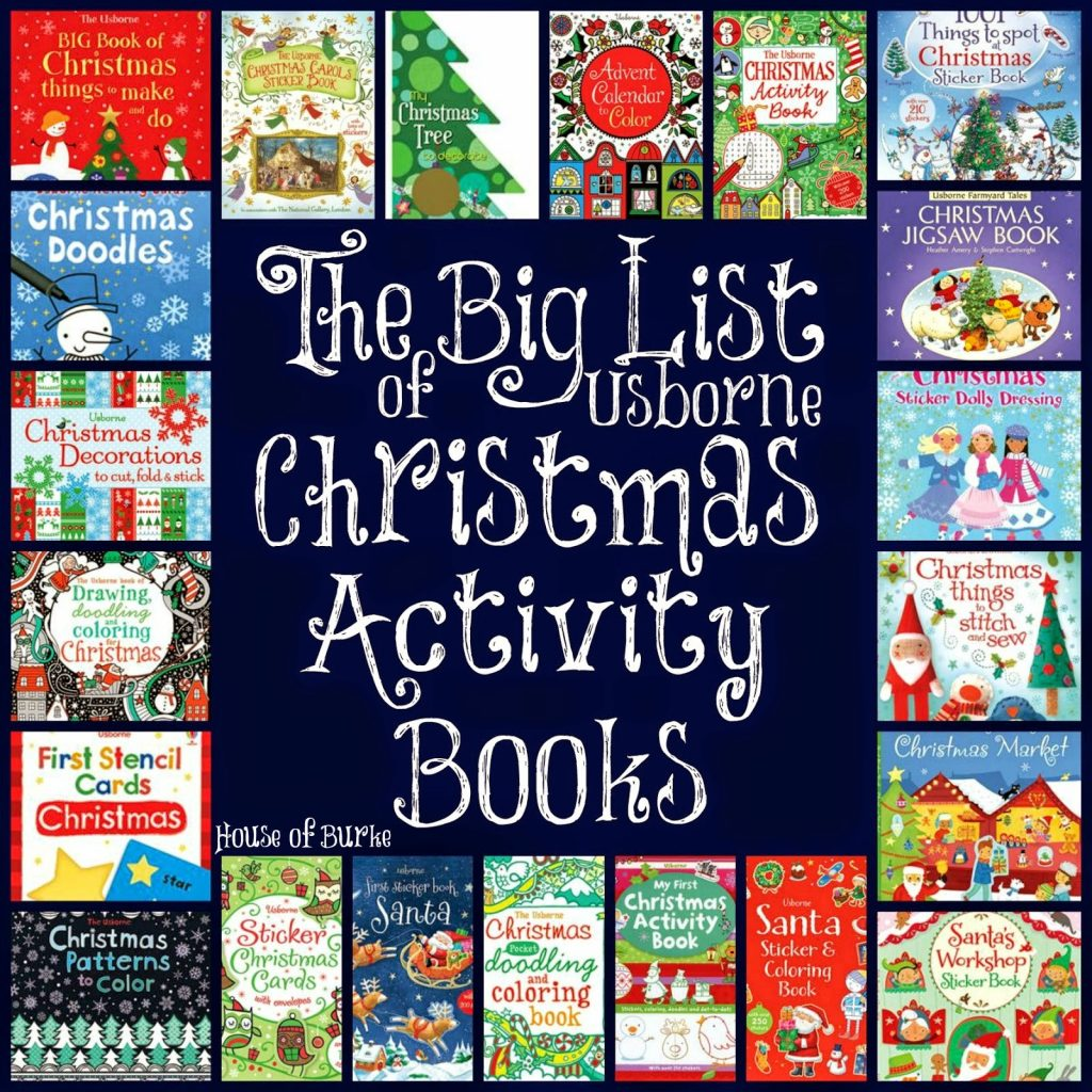 Christmas In July Coloring Book With House Of Burke The Big List Usborne Activity Books