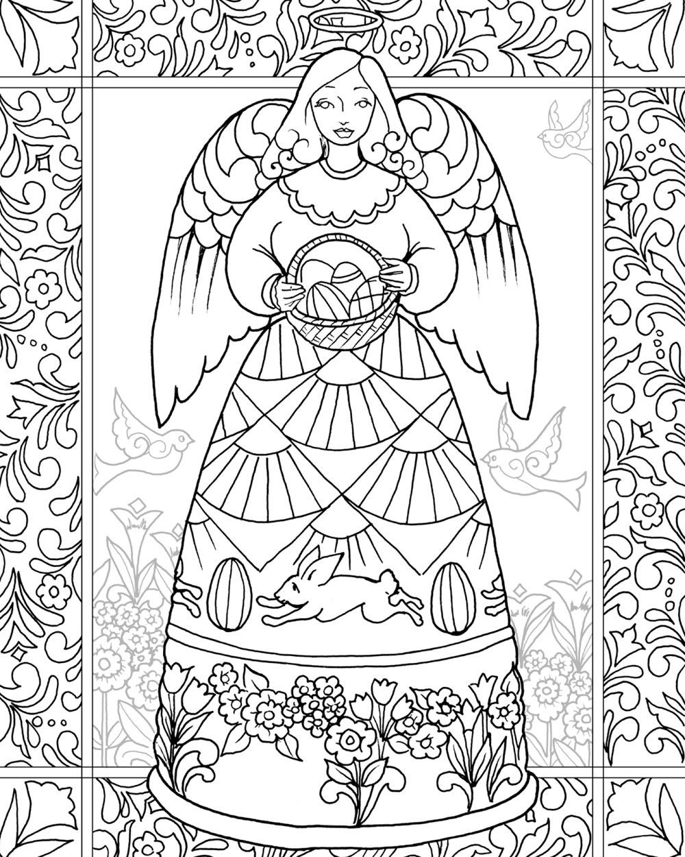 Christmas In July Coloring Book With Jim Shore Easter Blessings Angel From The