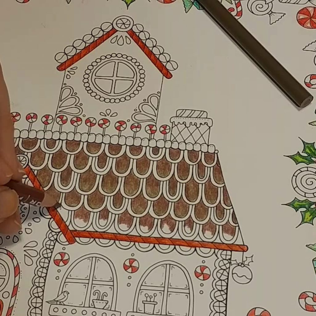 Christmas In July Coloring Book With Music The Gingerbread House