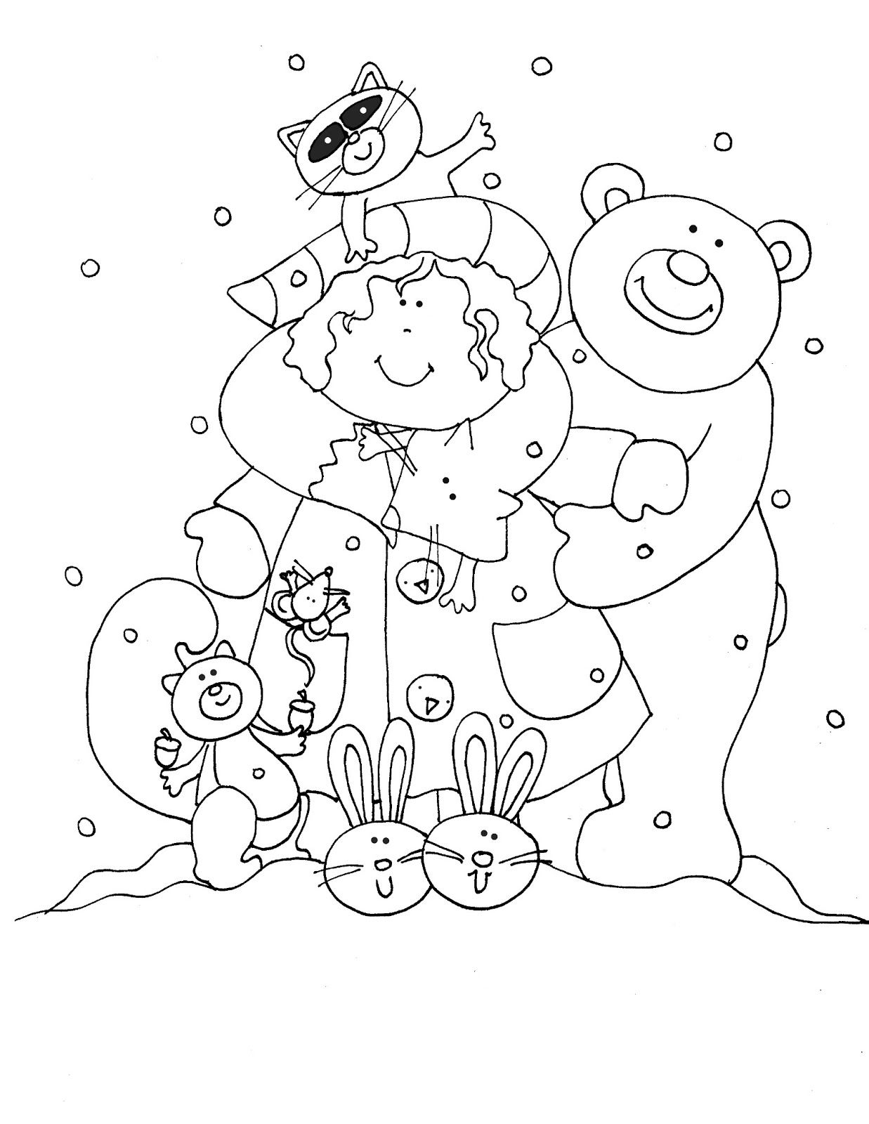 Christmas In July Coloring Pages With Free Dearie Dolls Digi Stamps Woodland Forever