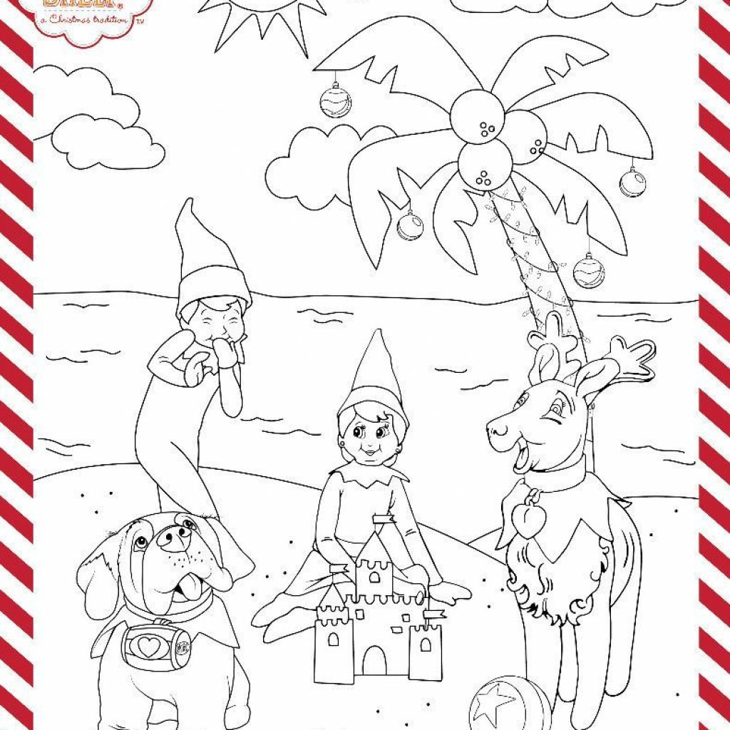 Christmas In July Coloring Pages With Printable Kids Activities For