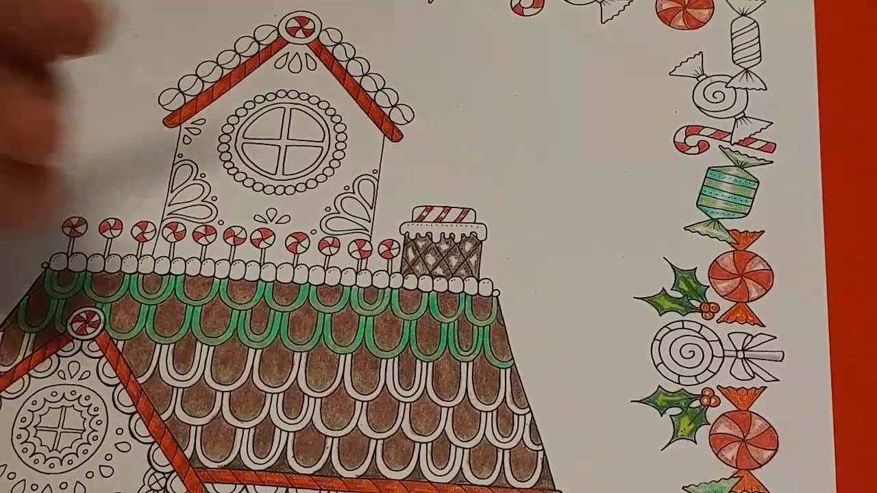 Christmas In July Coloring Pictures With Gingerbread House Music Real Time