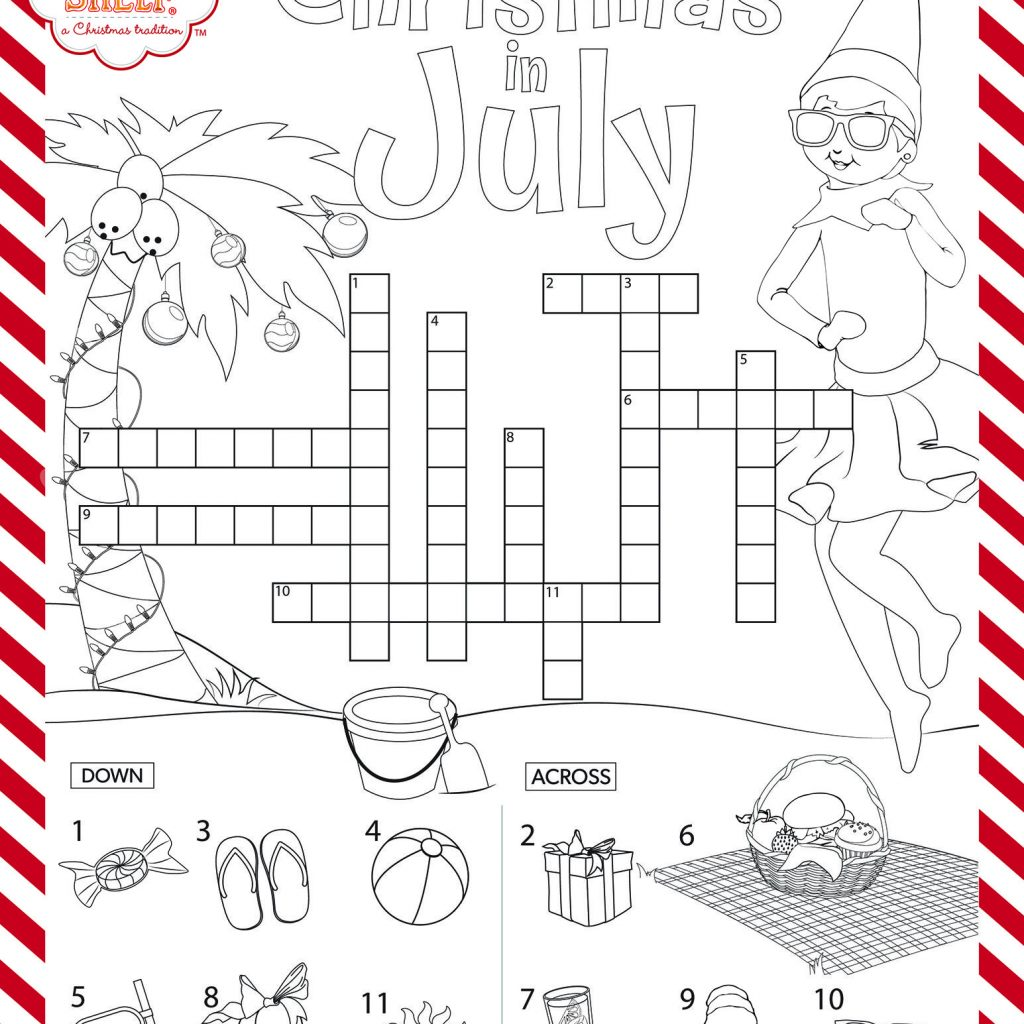 Christmas In July Coloring Pictures With Have Your Kids Test Their Knowledge This