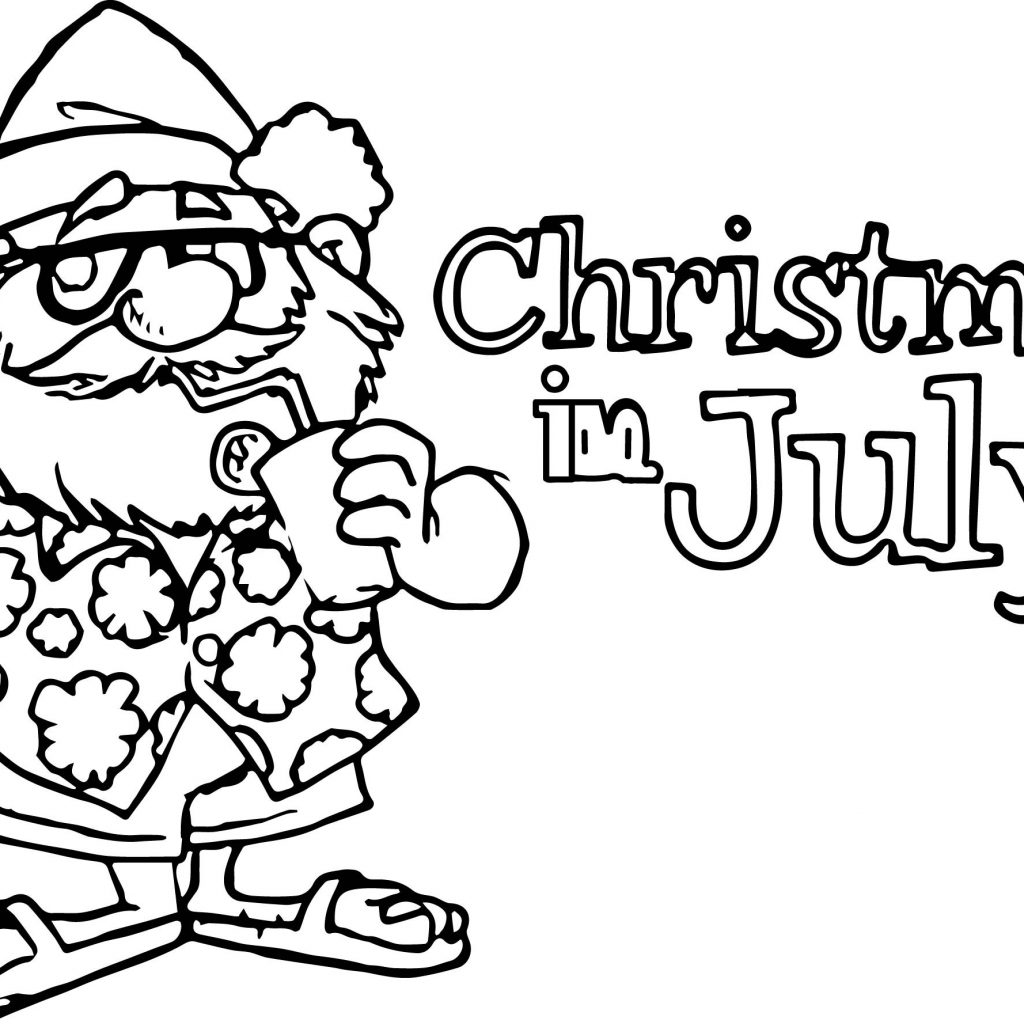Christmas In July Coloring Sheets With Pages Printable Page For Kids