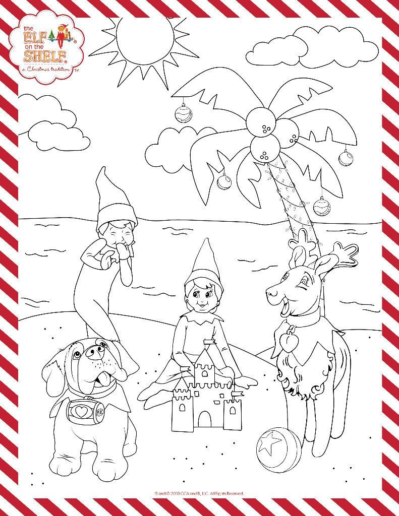 Christmas In July Coloring Sheets With Printable Kids Pages Activities For