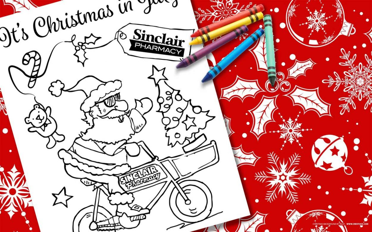 Christmas In July Coloring With Colouring Page Sinclair PharmacySinclair Pharmacy