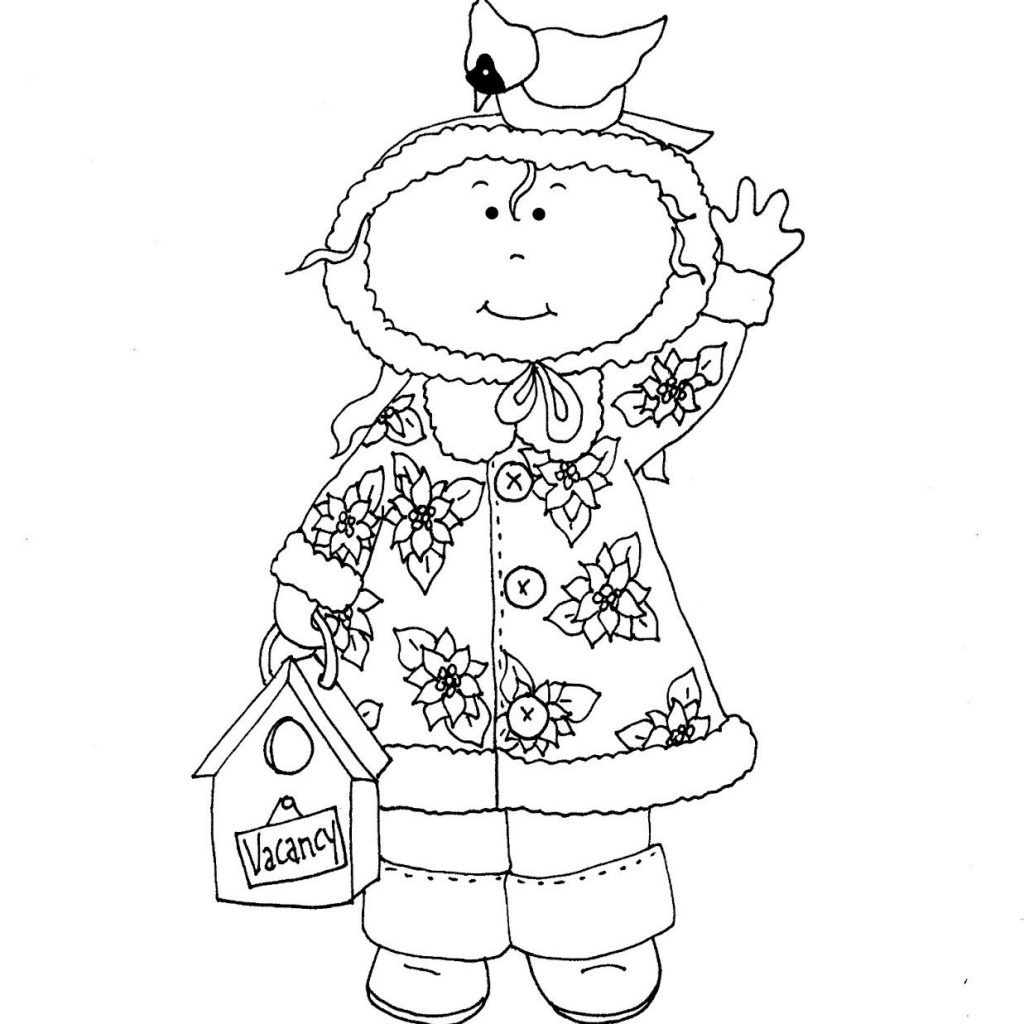 Christmas In July Coloring With Free Dearie Dolls Digi Stamps