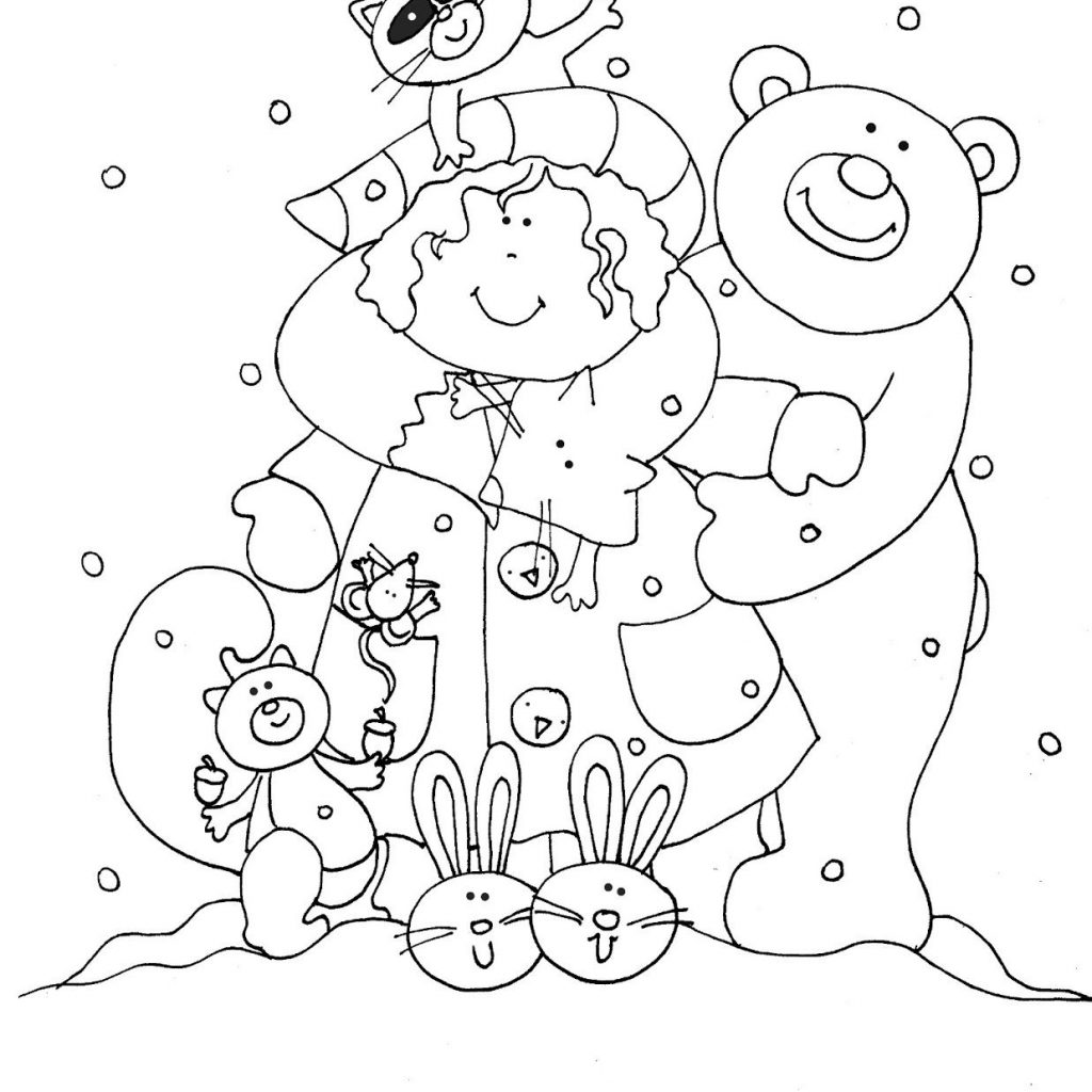 Christmas In July Coloring With Free Dearie Dolls Digi Stamps Woodland Forever