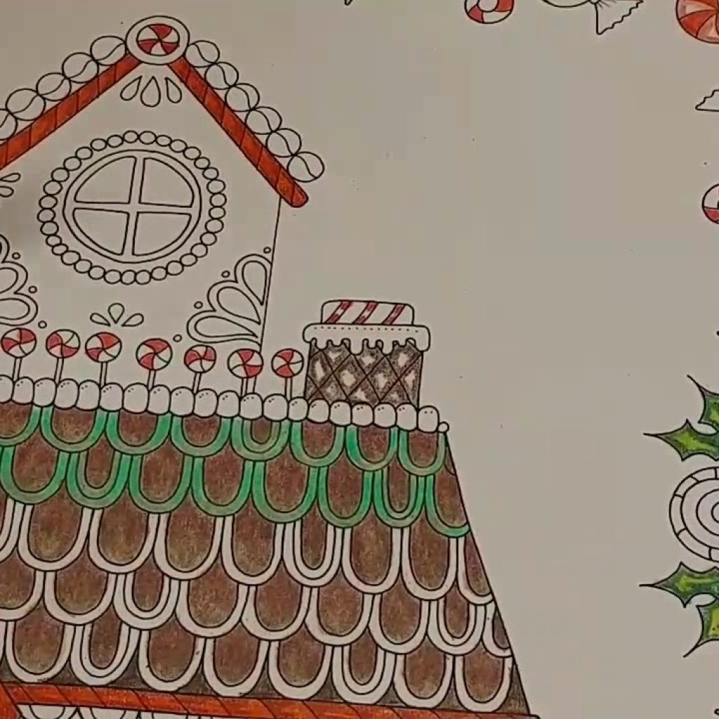 Christmas In July Coloring With Gingerbread House Music Real Time