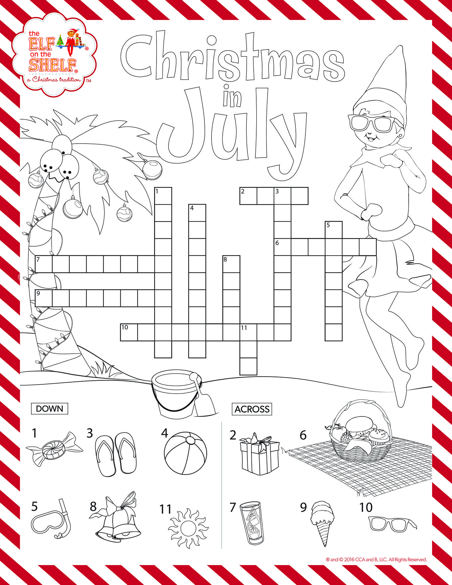 Christmas In July Coloring With Have Your Kids Test Their Knowledge This