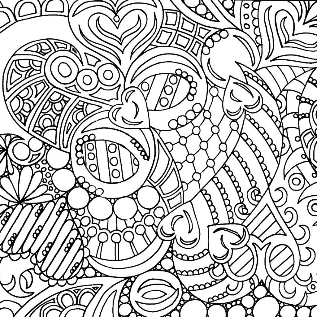Christmas Intricate Coloring Pages With Detailed Printable Free Abstract Nazly Me