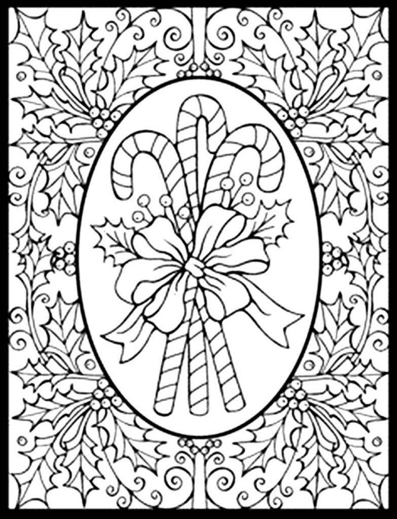 Christmas Intricate Coloring Pages With Difficult 2018 Open
