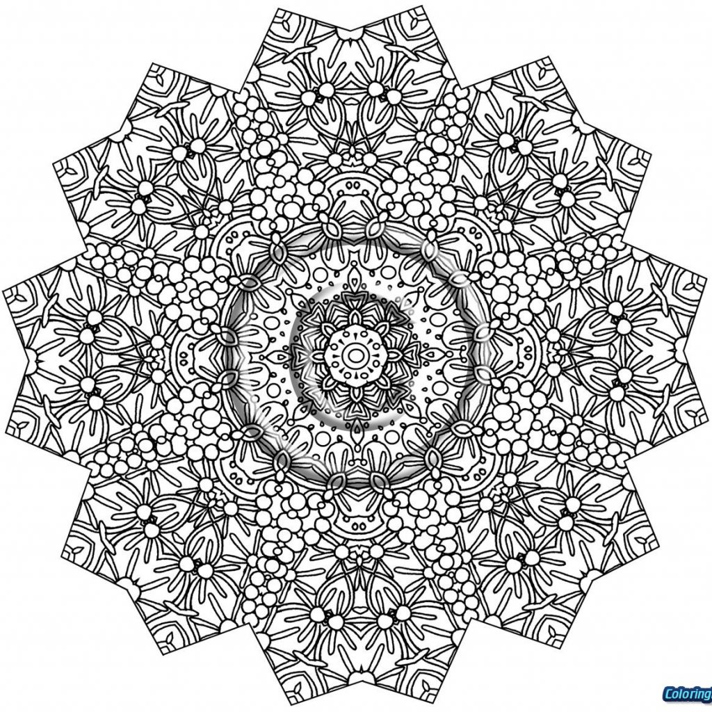 Christmas Intricate Coloring Pages With For Kids