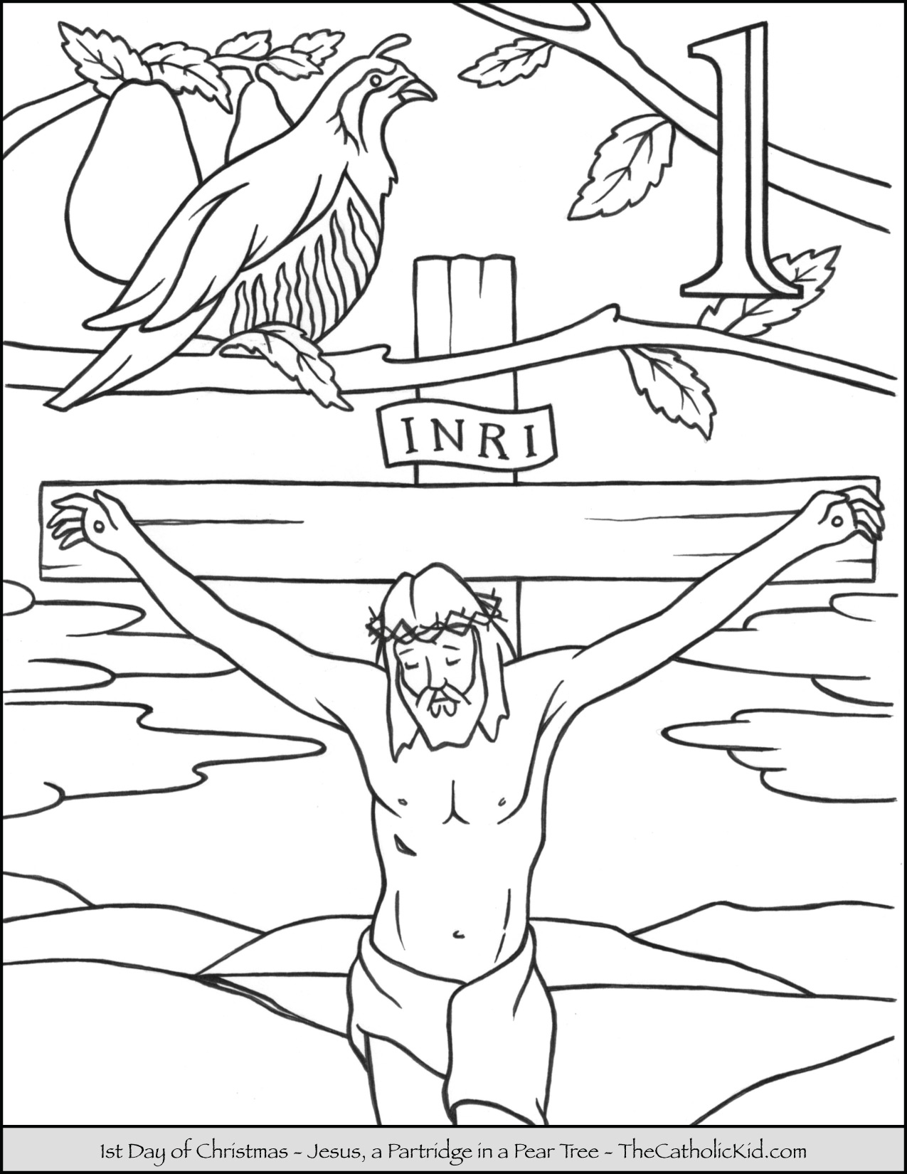 Christmas Jesus Coloring Pages With 12 Days Of TheCatholicKid Com