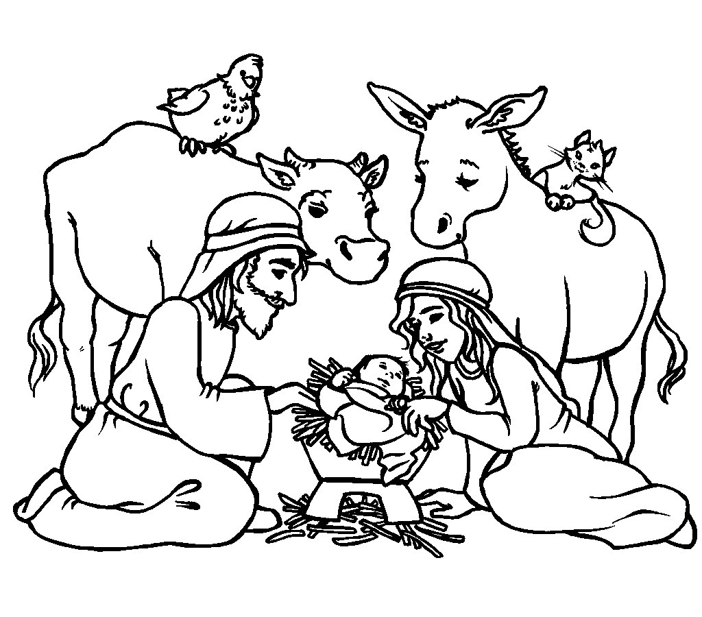 Christmas Jesus Coloring Pages With Baby Epic Religious 8 Futurama Me