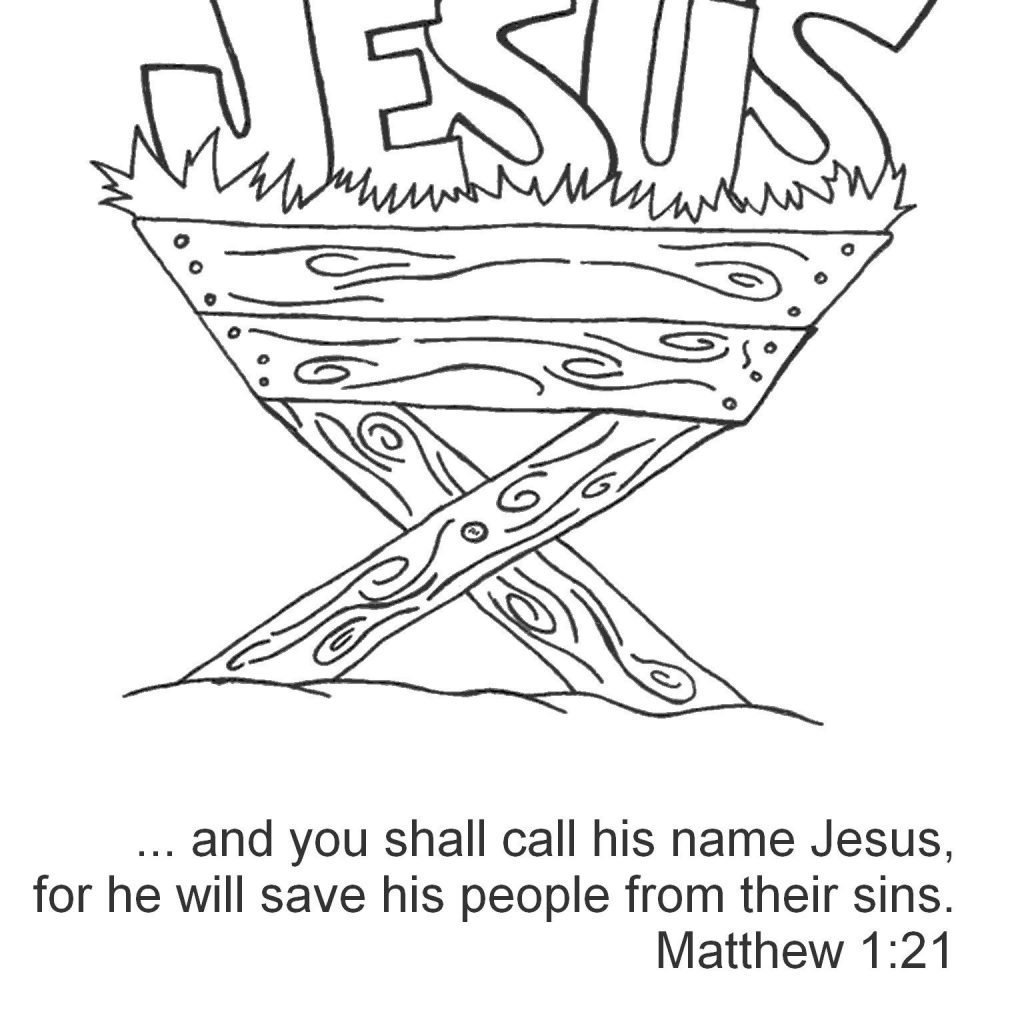 Christmas Jesus Coloring Pages With Bible Verses Journaling Pinte