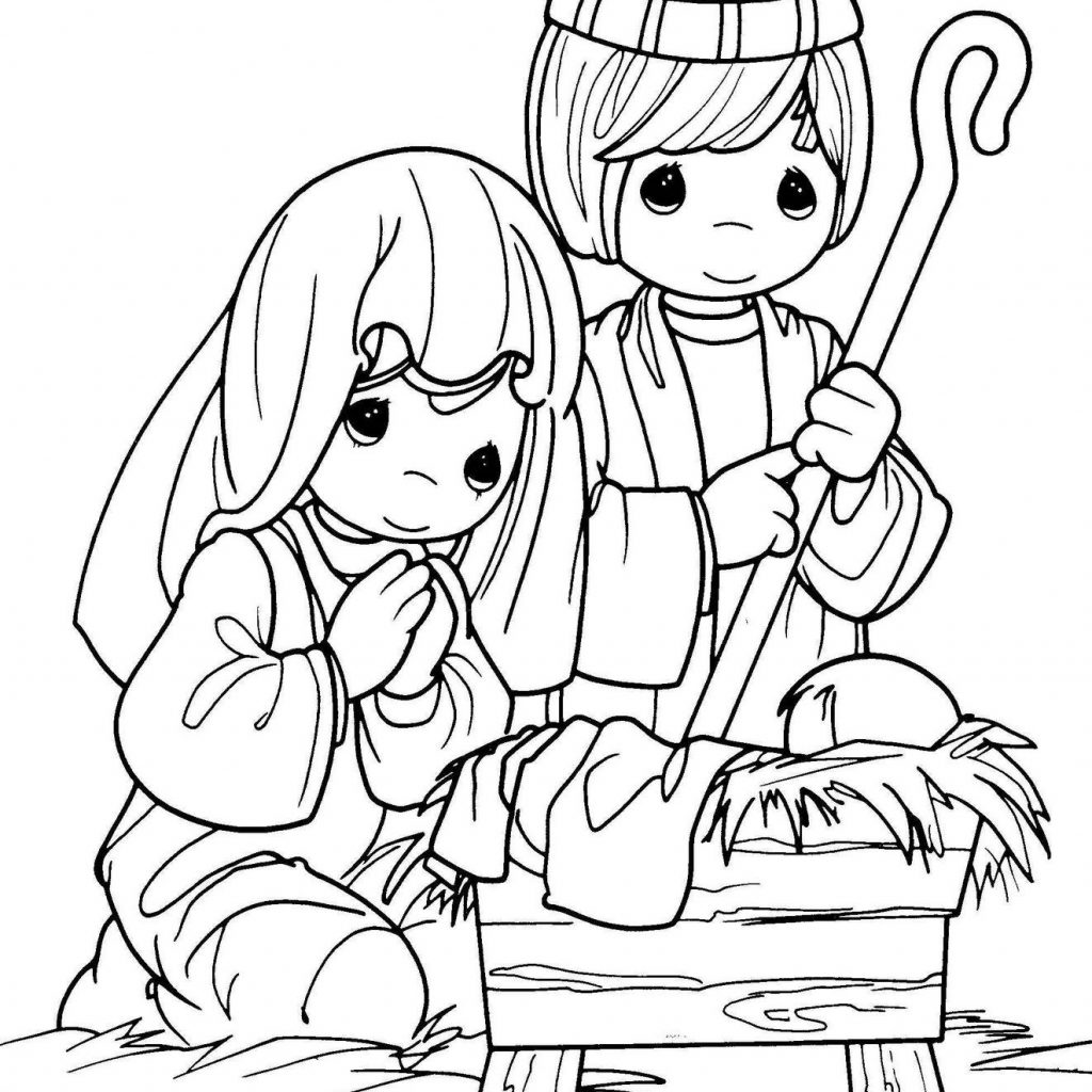 Christmas Jesus Coloring Pages With COLORING PAGES Nativity Precious Moments Color