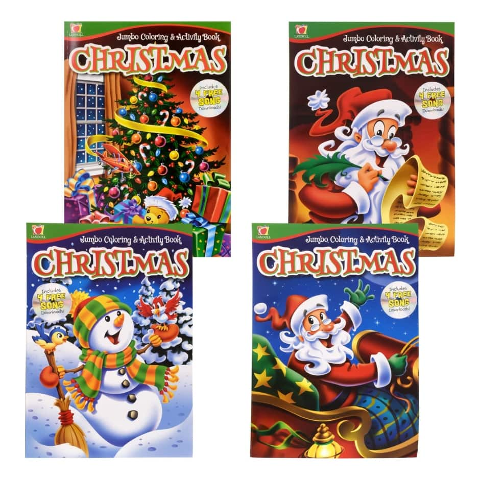 Christmas Jumbo Coloring Books With Dollar Tree Inc