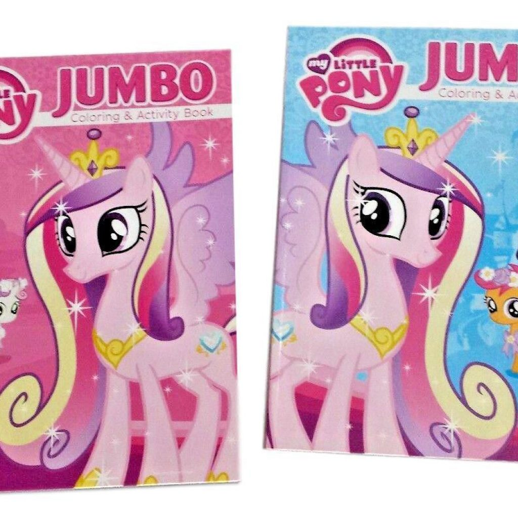 Christmas Jumbo Coloring Books With MY LITTLE PONY Book MLP Princess Cadance Kids Activity