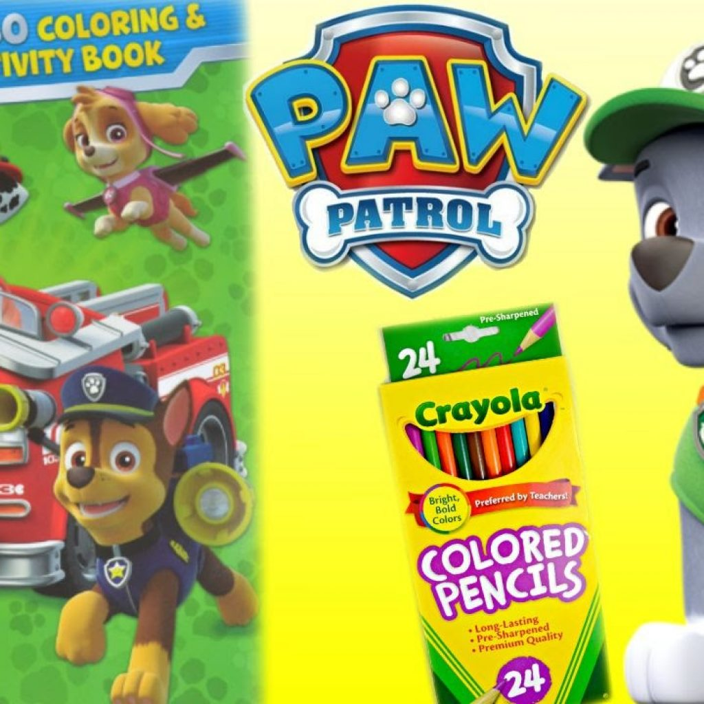 Christmas Jumbo Coloring Books With Paw Patrol Book PAW PATROL Pages ROCKY YouTube