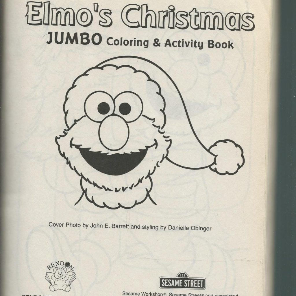Christmas Jumbo Coloring Books With Sesame Street Color Activity Book By John Barrett
