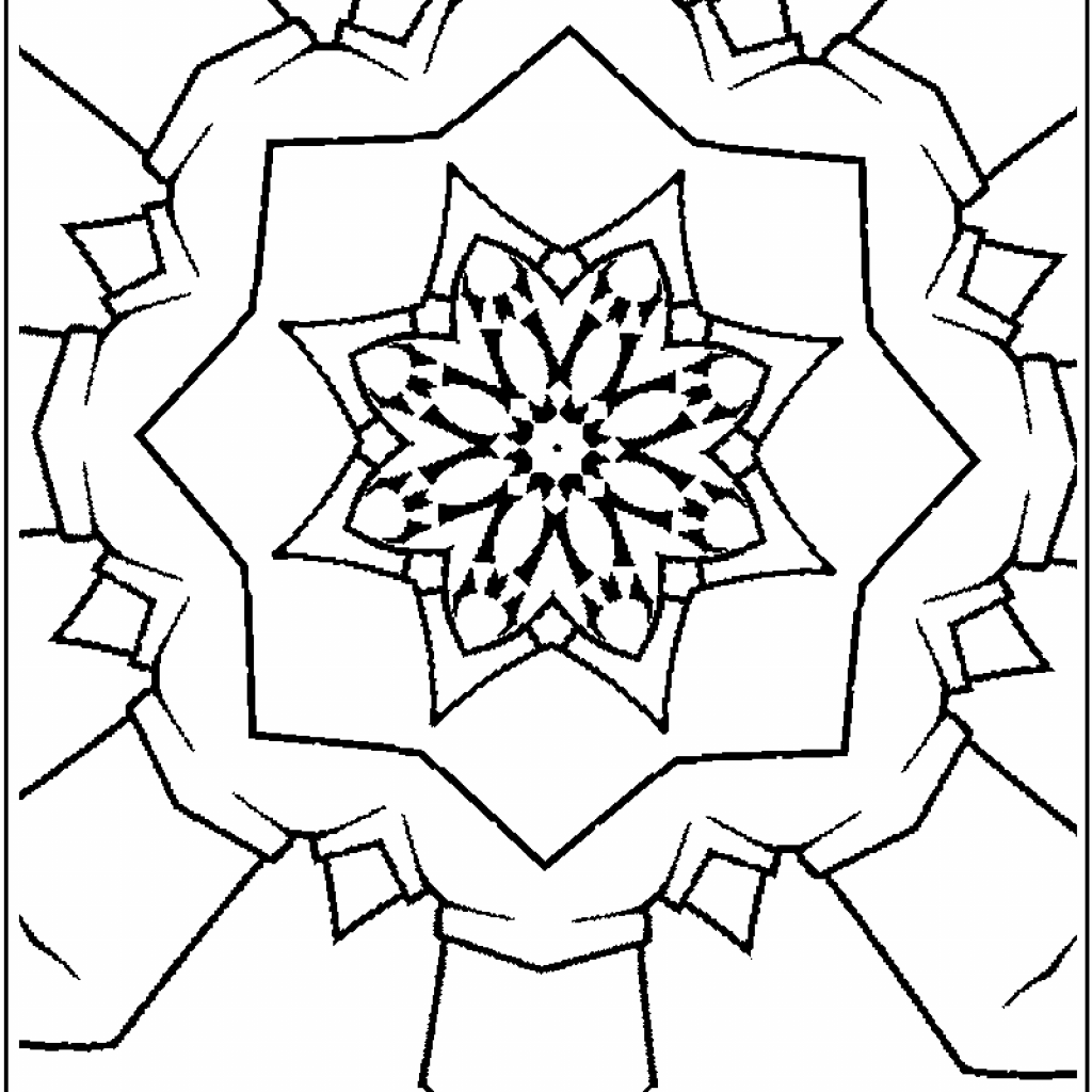 Christmas Kaleidoscope Coloring Pages With 42 Inspiring Pictures Of