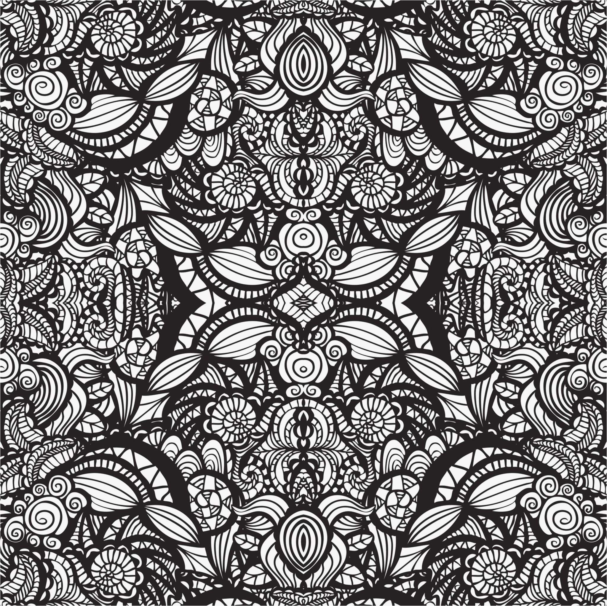 Christmas Kaleidoscope Coloring Pages With Colors Free Download Simple