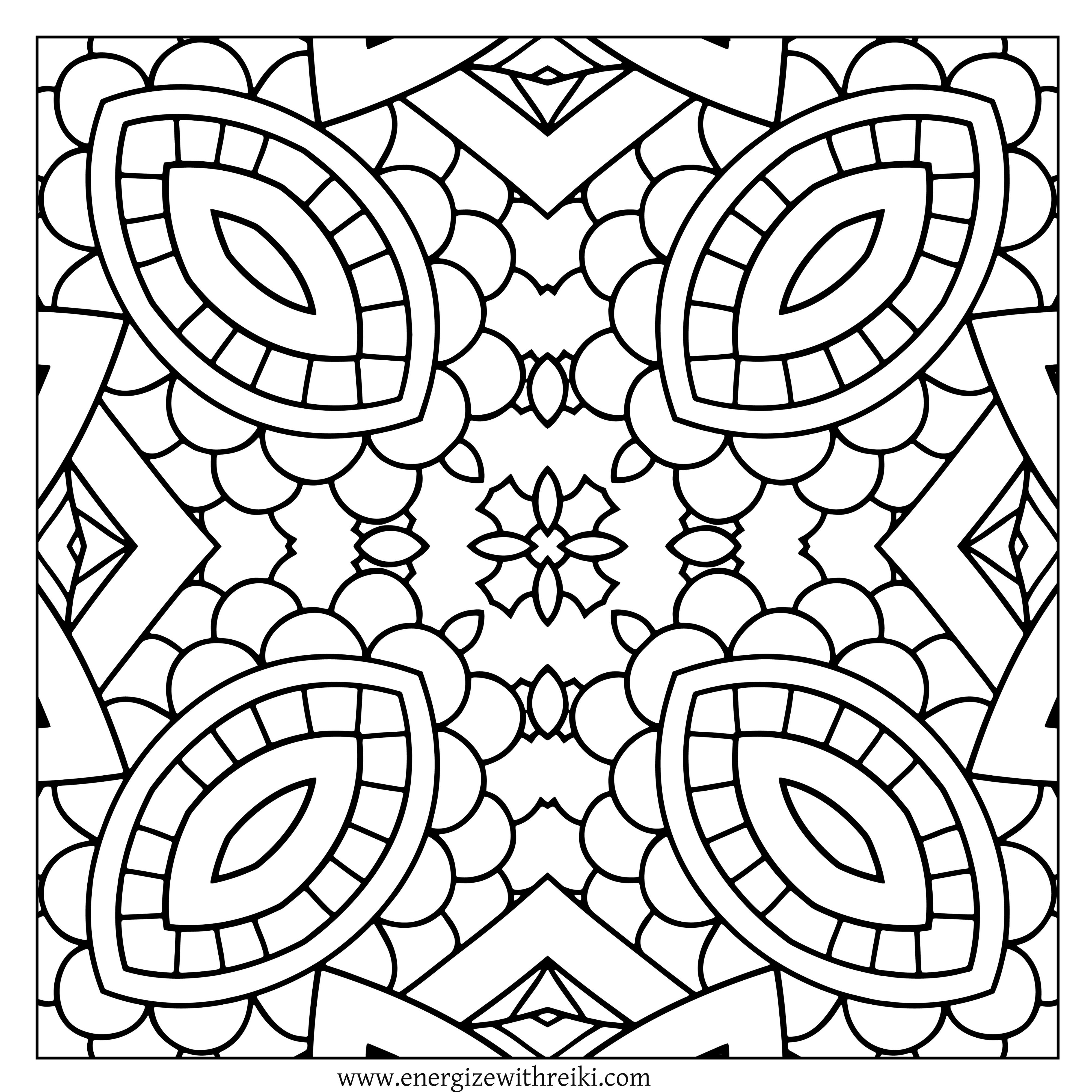 Christmas Kaleidoscope Coloring Pages With Diamond Shaped Eyes FREE Adult Page For You To