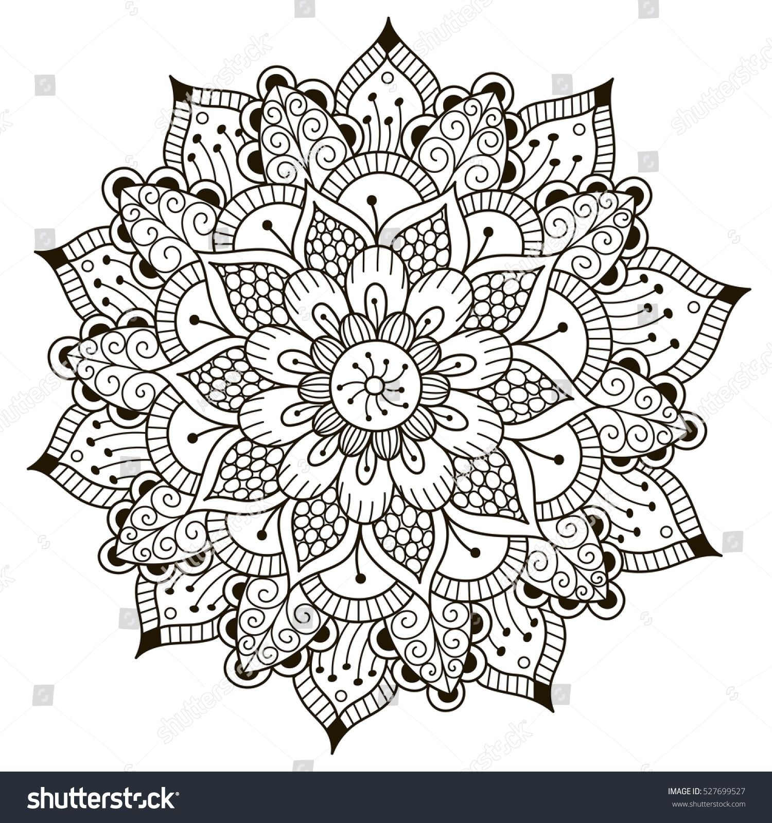 Christmas Kaleidoscope Coloring Pages With Flower 2259016