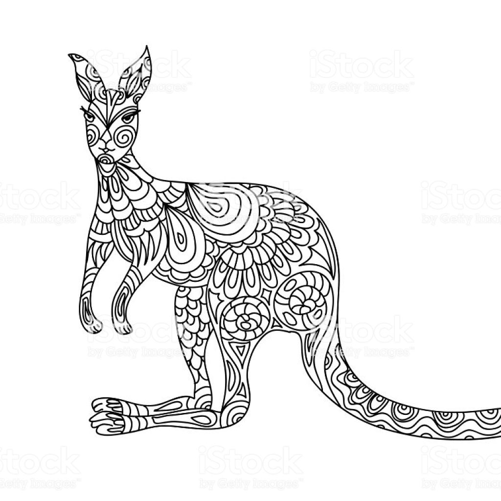 Christmas Kangaroo Coloring Page With Stock Vector Art More Images Of 2015