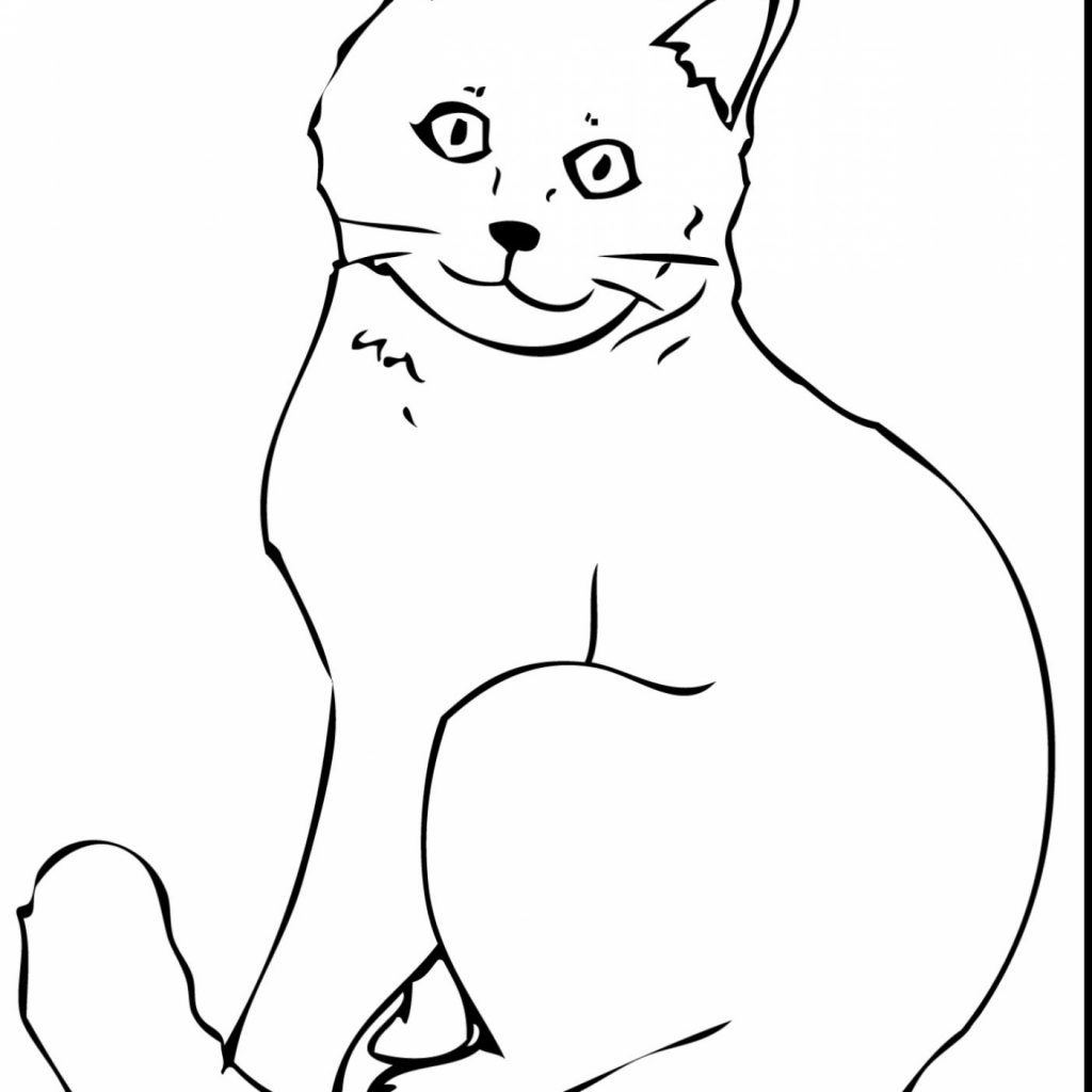 Christmas Kitten Coloring Pages With Cat Page Kitty Color Baby Hello