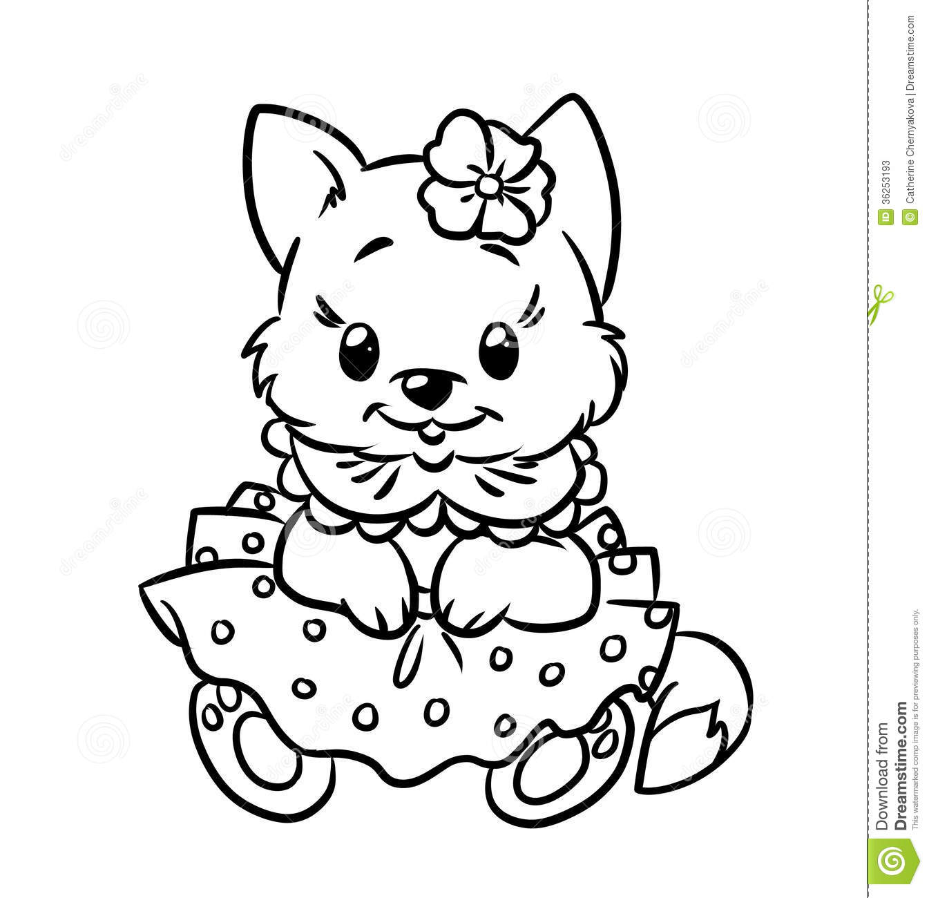 Christmas Kitten Coloring Sheets With Free Library