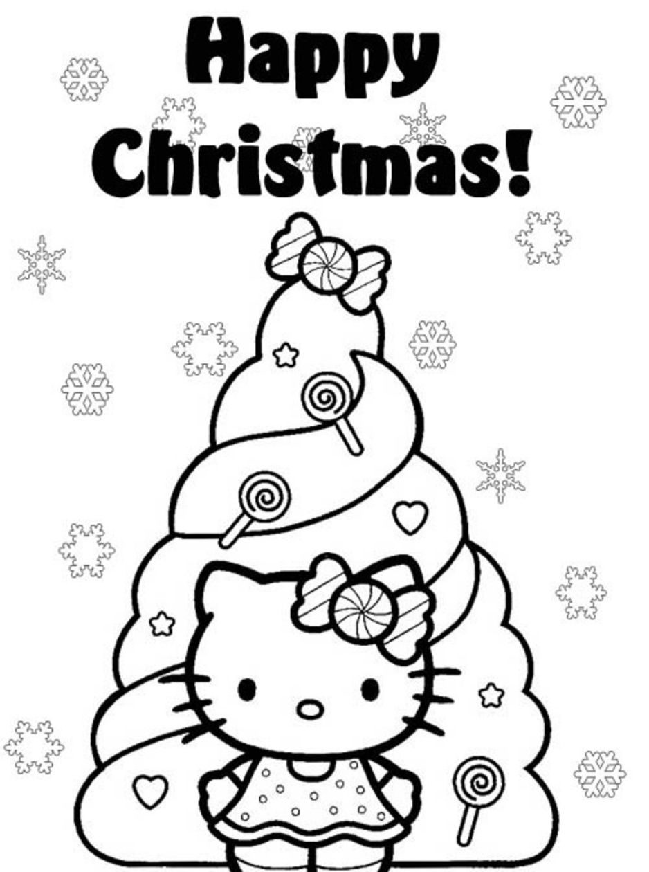 Christmas Kitten Coloring Sheets With Pin By Yo Kool On Activities Pinterest Hello Kitty And