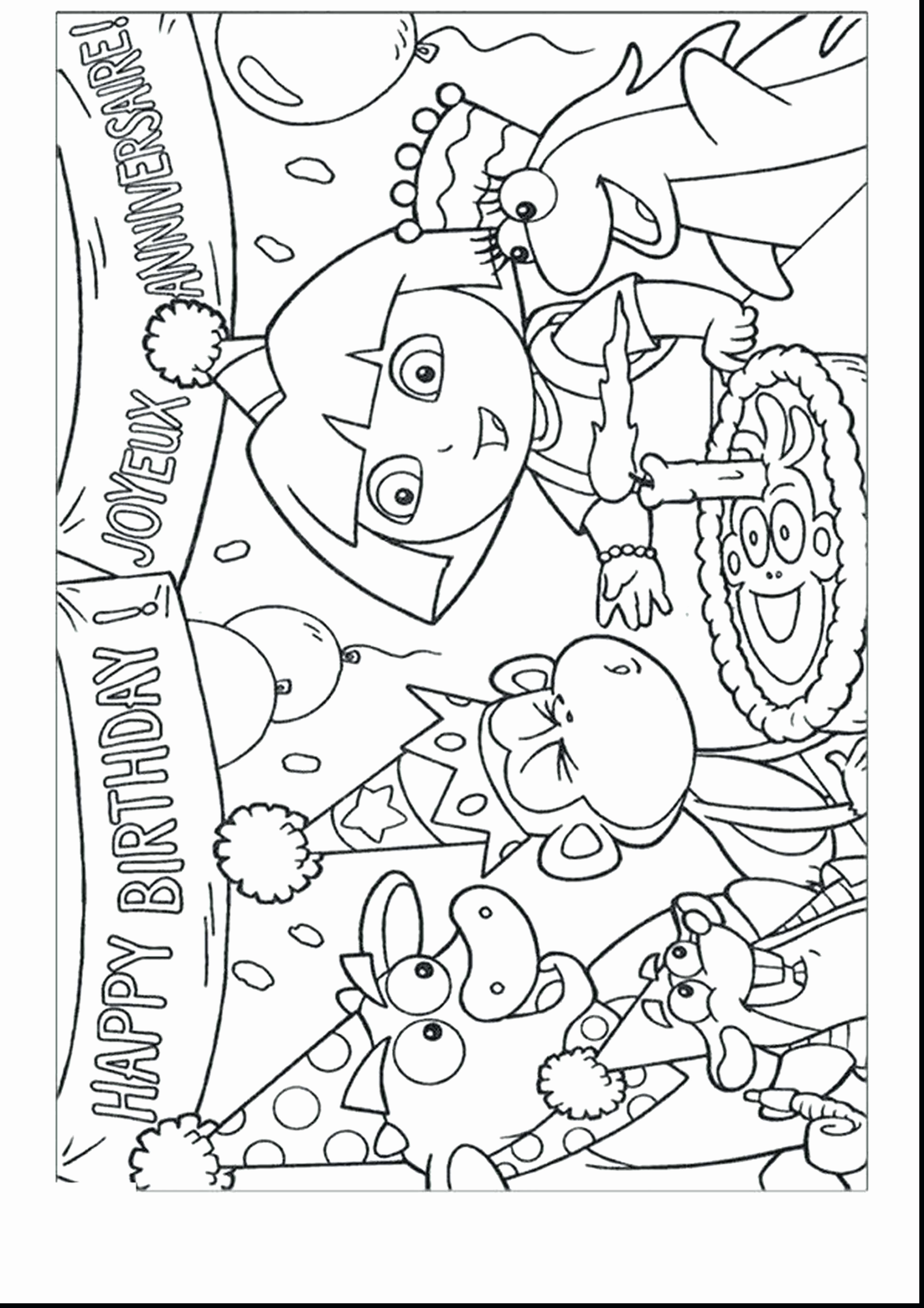 Christmas Kitty Coloring Pages With Birthday To Print New Hello