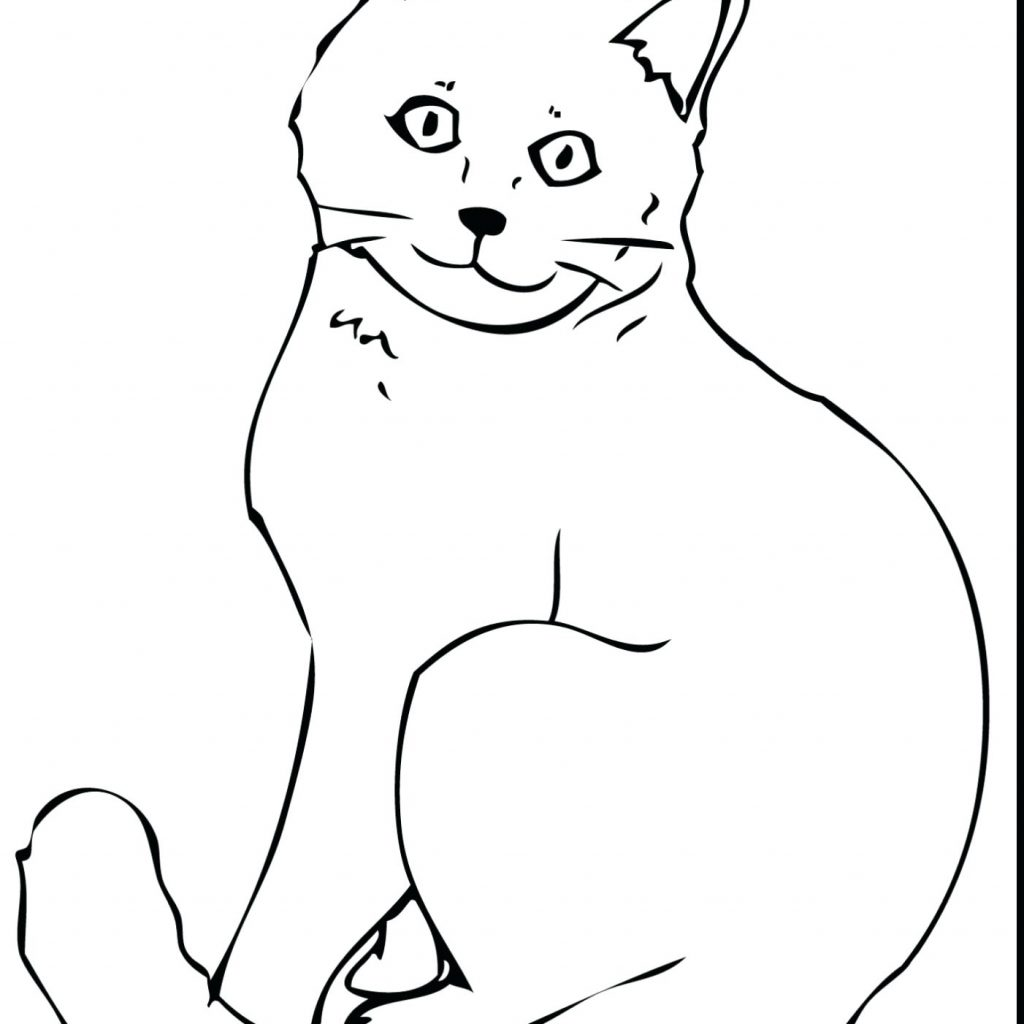 Christmas Kitty Coloring Pages With Collection Of Cats Download Them And