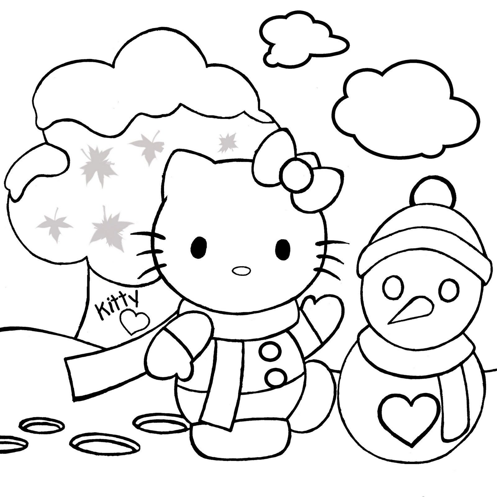 Christmas Kitty Coloring Pages With Games Inspirationa Evil Hello