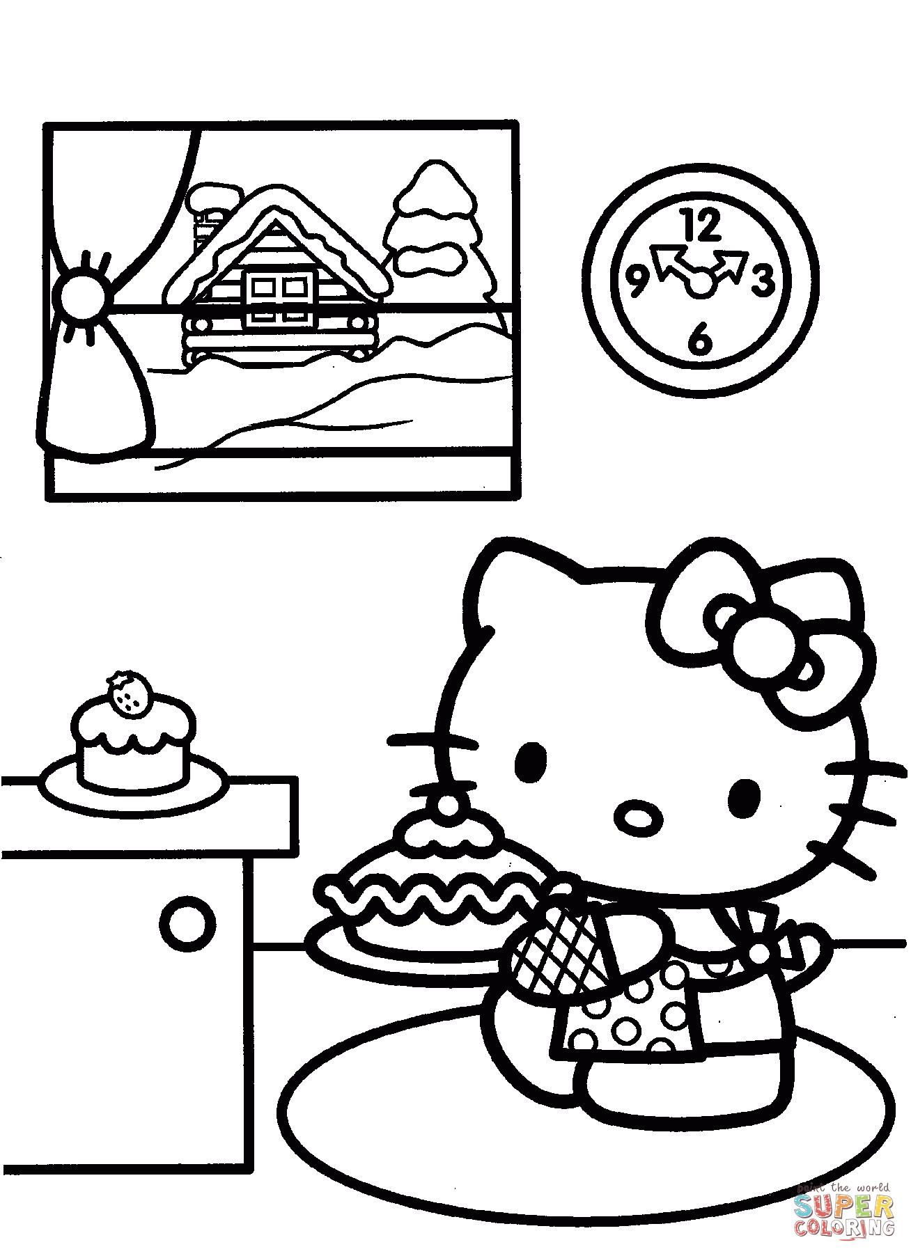 Christmas Kitty Coloring Pages With Hello Book Fresh Prepares For