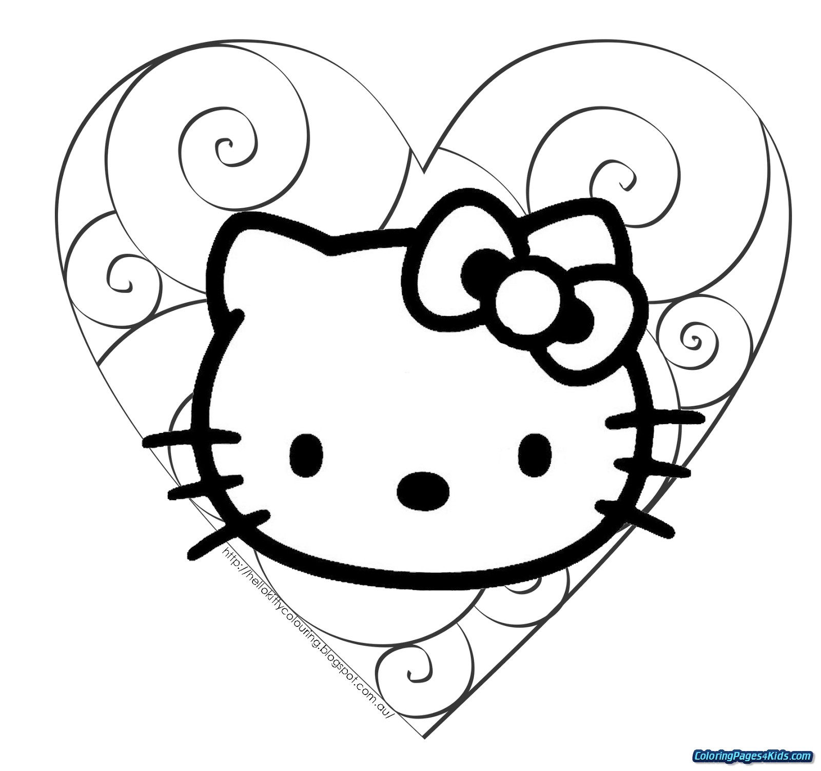 Christmas Kitty Coloring Pages With Hello For Kids
