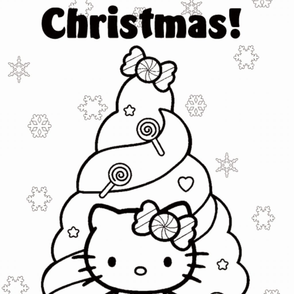 Christmas Kitty Coloring Pages With Hellow Best Of Free Hello