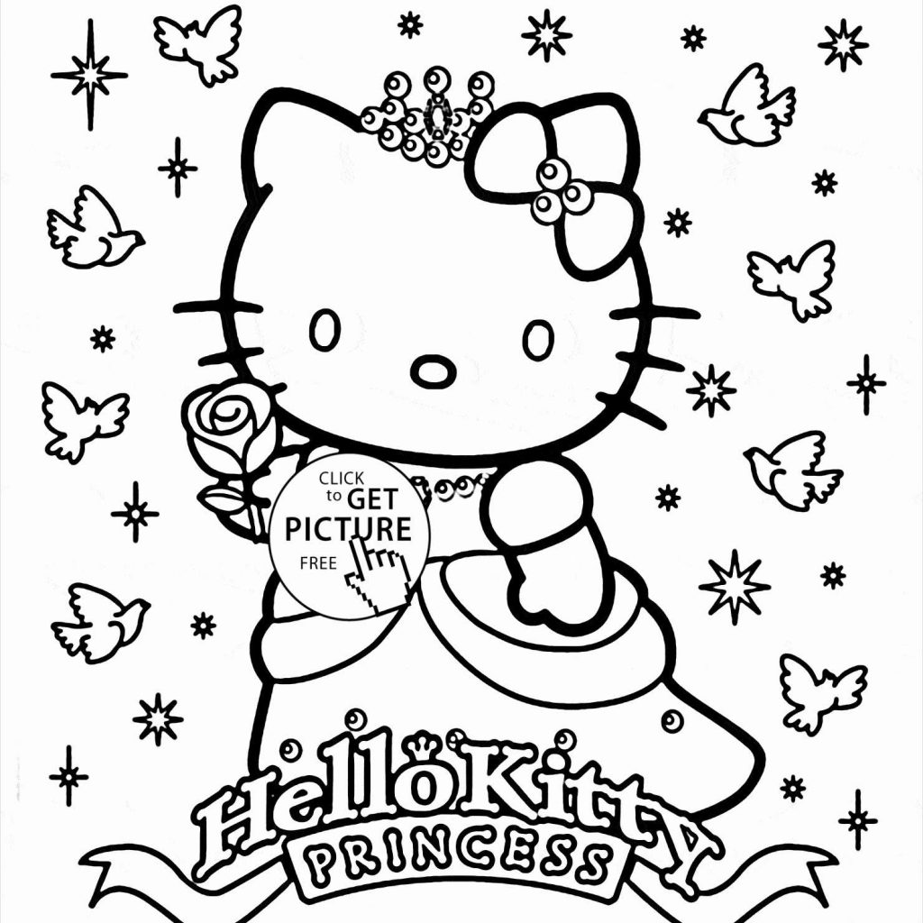 Christmas Kitty Coloring Pages With Princess Hello Page
