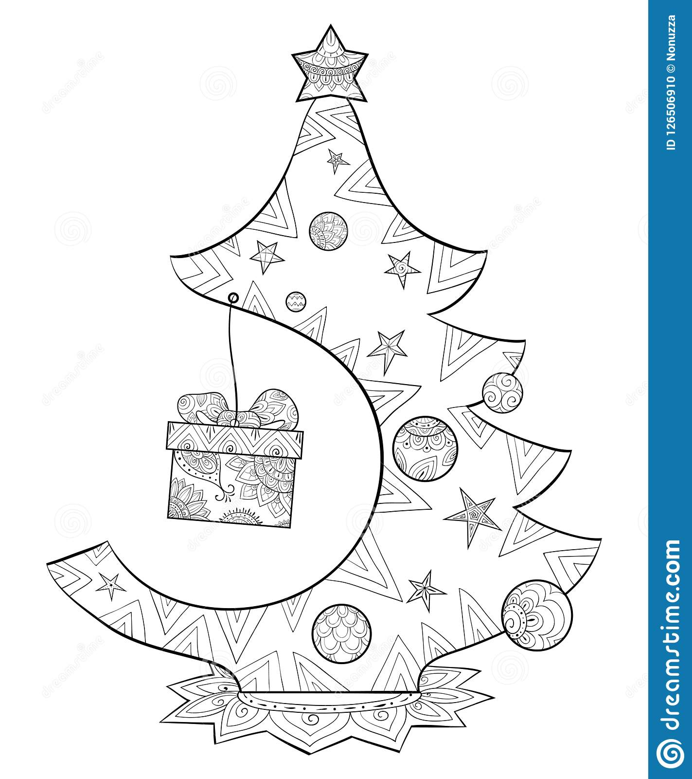 Christmas Koala Coloring Page With A Book For Adults And Children Cute Fir