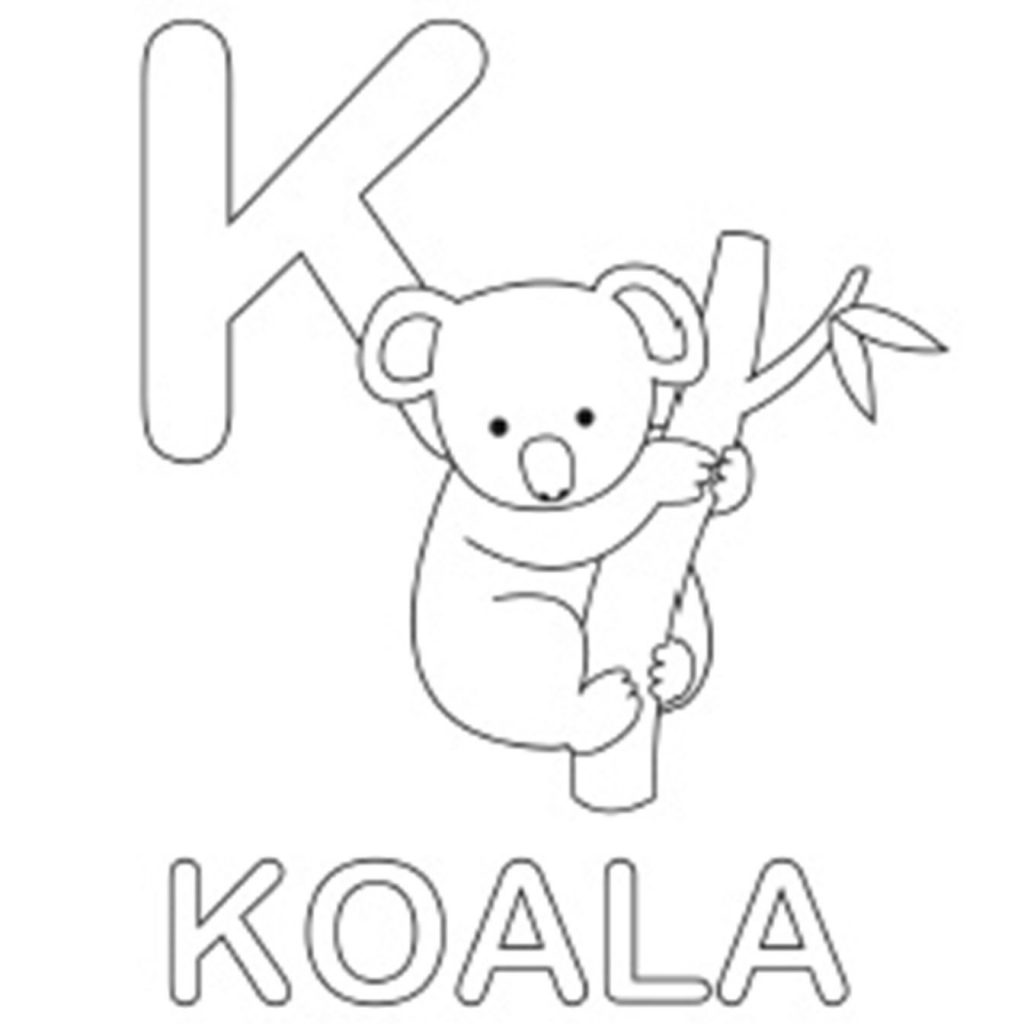 Christmas Koala Coloring Page With Alphabet Pages Free Party For Megan