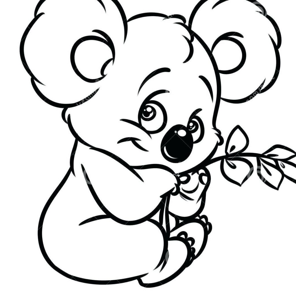 Christmas Koala Coloring Page With Koalas Pages Castrophotos