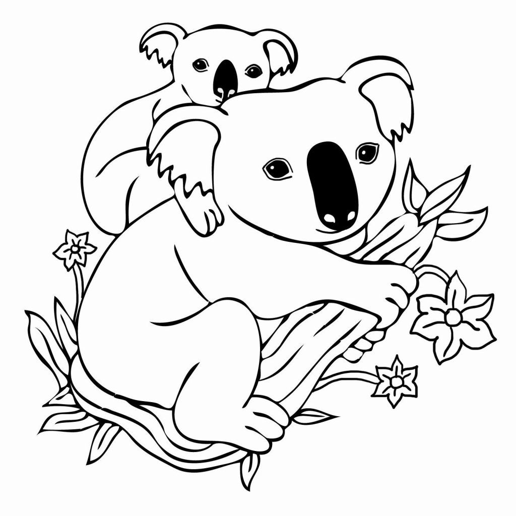 Christmas Koala Coloring Page With Pin Clipart 5 3D Pinterest